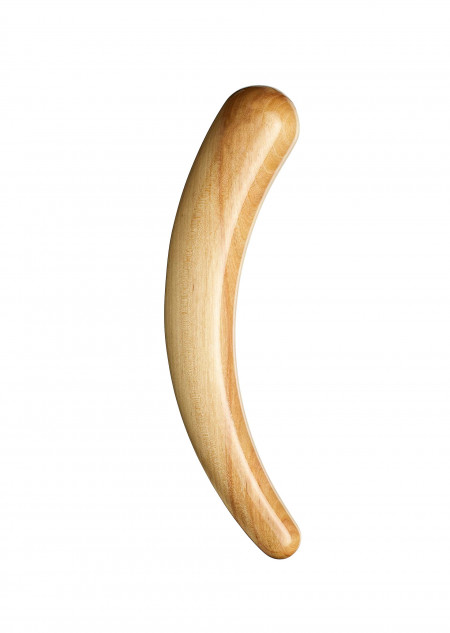 A unique Birch Dildo, colours vary between different pieces.